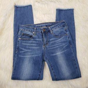 Articles of Society Skinny Raw Hem Jeans